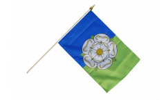 Stockflagge Großbritannien Yorkshire East Riding - 30 x 45 cm