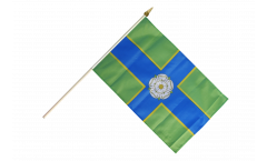 Stockflagge Großbritannien Yorkshire North Riding - 30 x 45 cm