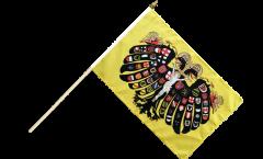 Stockflagge Heiliges Römisches Reich Deutscher Nation Quaterionenadler - 30 x 45 cm