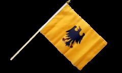 Stockflagge Heiliges Römisches Reich Deutscher Nation vor 1400 - 30 x 45 cm