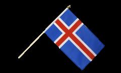 Stockflagge Island - 30 x 45 cm