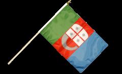 Stockflagge Italien Ligurien - 30 x 45 cm