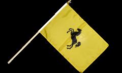Stockflagge Italien Provinz Neapel - 30 x 45 cm