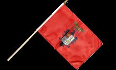 Stockflagge Italien Provinz Palermo - 30 x 45 cm