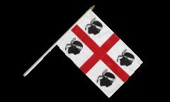 Stockflagge Italien Sardinien - 30 x 45 cm