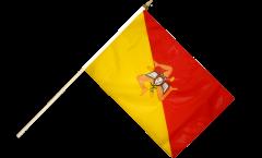 Stockflagge Italien Sizilien - 30 x 45 cm
