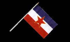Stockflagge Jugoslawien alt - 30 x 45 cm