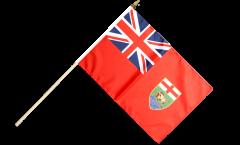 Stockflagge Kanada Manitoba - 30 x 45 cm