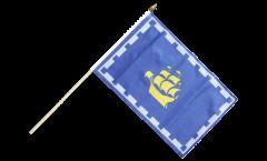Stockflagge Kanada Stadt Quebec - 30 x 45 cm