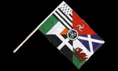 Stockflagge Keltische Nationen Pankeltisch - 60 x 90 cm