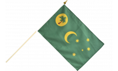 Stockflagge Kokosinseln - 30 x 45 cm
