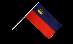 Stockflagge Liechtenstein - 60 x 90 cm