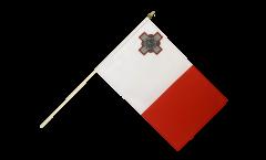 Stockflagge Malta - 30 x 45 cm