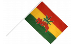 Stockflagge Marijuana