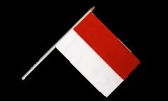 Stockflagge Monaco - 30 x 45 cm