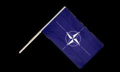 Stockflagge NATO - 60 x 90 cm