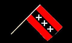 Stockflagge Niederlande Stadt Amsterdam - 60 x 90 cm