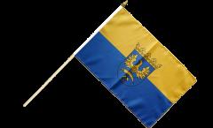 Stockflagge Oberschlesien - 30 x 45 cm