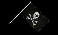 Stockflagge Pirat