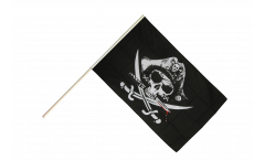 Stockflagge Pirat mit blutigem Säbel - 60 x 90 cm