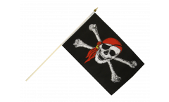 Stockflagge Pirat mit Kopftuch - 30 x 45 cm
