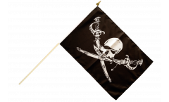 Stockflagge Pirat mit Säbel - 30 x 45 cm