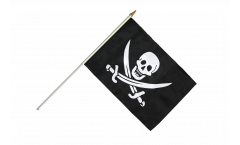 Stockflagge Pirat mit zwei Schwertern - 30 x 45 cm