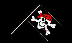 Stockflagge Pirat one eyed Jack - 60 x 90 cm
