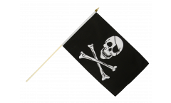 Stockflagge Pirat Skull and Bones