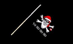 Stockflagge Pirat Yo ho ho - 60 x 90 cm