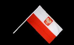 Stockflagge Polen mit Adler - 30 x 45 cm