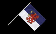 Stockflagge Pommern - 30 x 45 cm