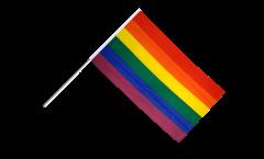 Stockflagge Regenbogen