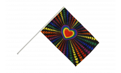 Stockflagge Regenbogen Liebe