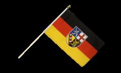 Stockflagge Saarland - 30 x 45 cm