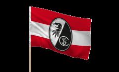 Stockflagge SC Freiburg Streifen