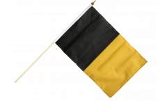 Stockflagge Schwarz-Gelb - 30 x 45 cm