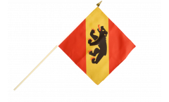 Stockflagge Schweiz Kanton Bern - 30 x 30 cm