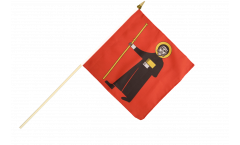 Stockflagge Schweiz Kanton Glarus - 30 x 30 cm