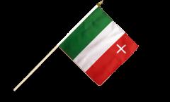 Stockflagge Schweiz Kanton Neuenburg - 30 x 30 cm
