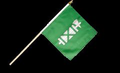 Stockflagge Schweiz Kanton St. Gallen - 30 x 30 cm