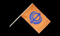 Stockflagge Sikhismus