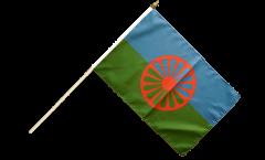 Stockflagge Sinti und Roma - 30 x 45 cm