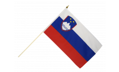 Stockflagge Slowenien - 30 x 45 cm