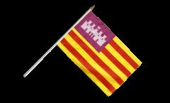 Stockflagge Spanien Balearen - 30 x 45 cm