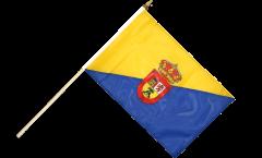 Stockflagge Spanien Gran Canaria - 30 x 45 cm