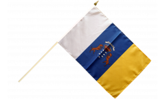 Stockflagge Spanien Kanaren - 30 x 45 cm