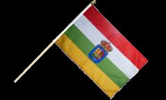 Stockflagge Spanien La Rioja - 30 x 45 cm