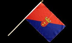 Stockflagge Spanien Lanzarote - 30 x 45 cm