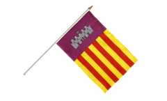 Stockflagge Spanien Mallorca - 30 x 45 cm